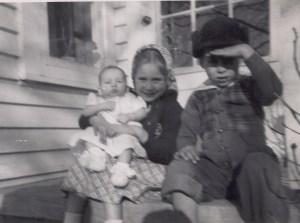 3 children-winter 1950