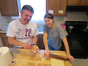 Jill rolling out doughnuts