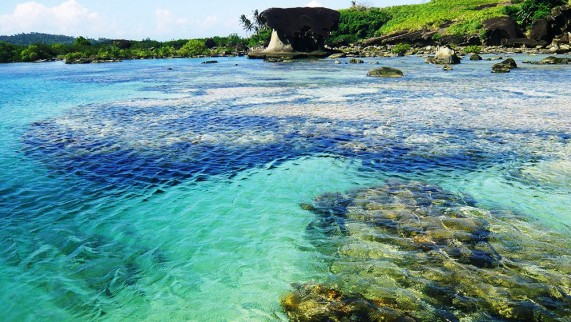 A Natural pool at Biri island