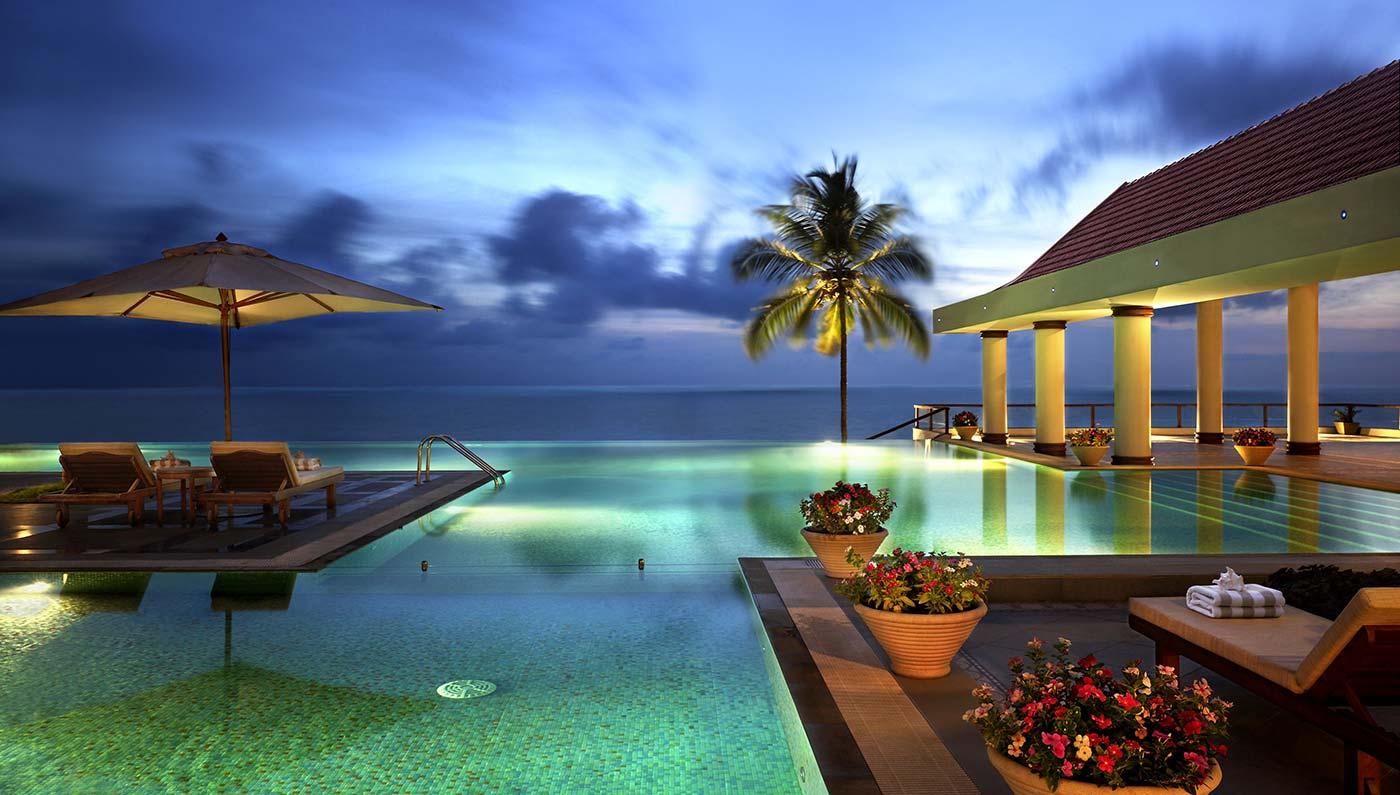 luxury hotels in trivandrum   the leela kempinksi kovalam beach