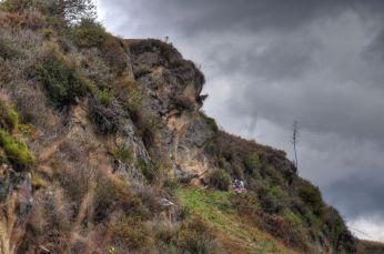 Inka Face nahe Ingapirca; eine Felsformation, die wirklich fast wie ein Gesicht aussieht.