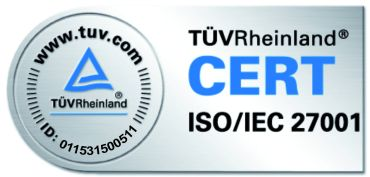 TÜV Zertifizierung 27001