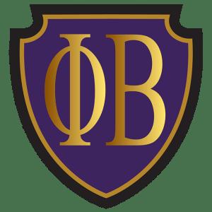 Phi Beta Greek Letters on a Purple Shield