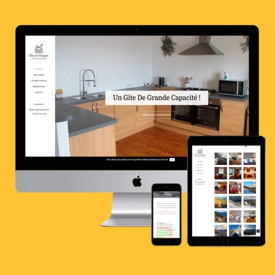Site web Gîte et Vosges par phicarre Épinal