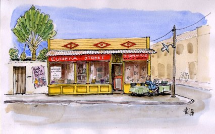 Une librairie créole, proposant aussi des boissons, un lieu où bouquiner avant d'acheter.