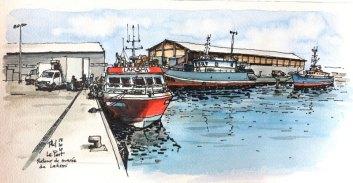 Laksmi boat at anchor, Reunion Island.