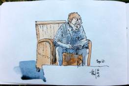 Pierre reading