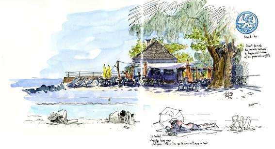 Sketch of Zat restaurant, Saint-Leu, Reunion Island