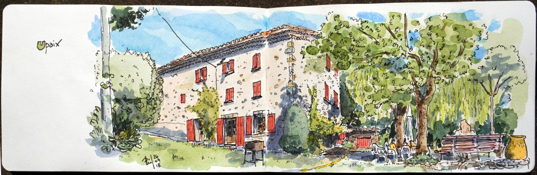 Sketch of an old house, France