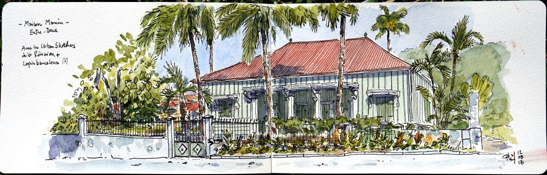 Sketch of an old creole house.