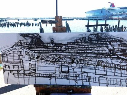 Erin McGee Ferrell. Urban architectural painter