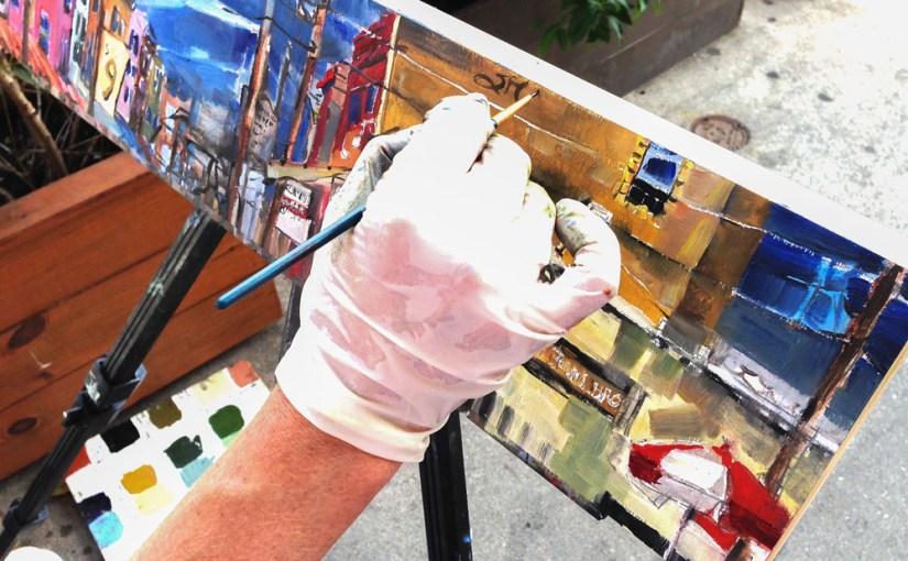 Philadelphia  Artist Paints Italian Market