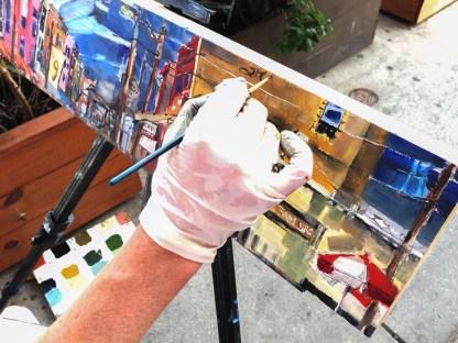 9th St. Italian Market Philadelphia Painting Revised. Erin McGee Ferrell painting Philadelphia. Photographer Michael Klusek