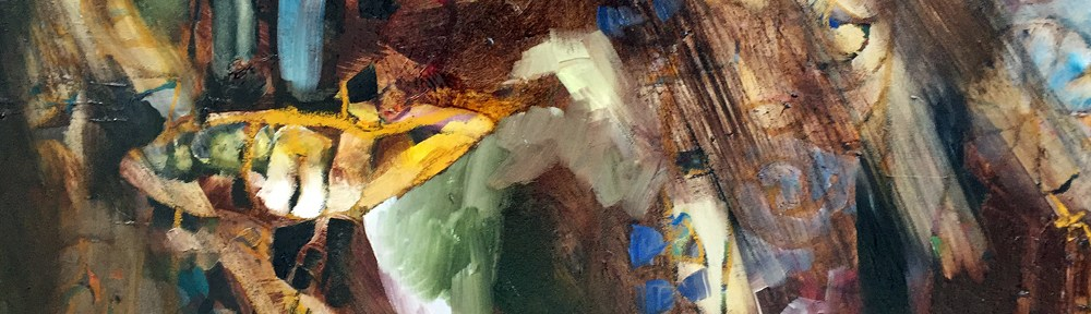 Frozen Sardines and Fabric Oil Painting Series. Maine Art Studio
