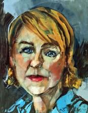 Erin McGee Ferrell Self Portrait. Collaborative Self-Portraits. Adult Oil Painting Lesson. Erin McGee Ferrell, American Artist. Art teacher, Falmouth Maine. www.Philadelphia-Artist.com