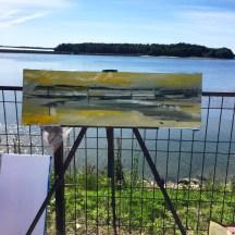 Erin McGee Ferrell paints Martin's Point Bridge