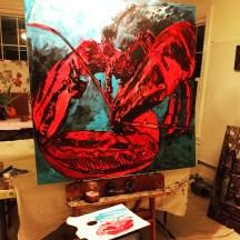 Maine Lobster. American Artist, Erin McGee Ferrell