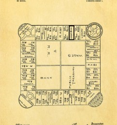 lizzie magie s landlord s game patent showing the board game dated january 5 1904 [ 1224 x 1800 Pixel ]