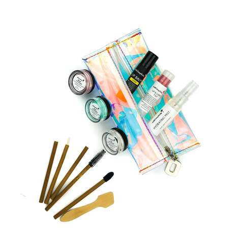 Clean Makeup Starter Kits – Withsimplicity's Clean Start Makeup Set Comes in a Holographic Pouch (TrendHunter.com)