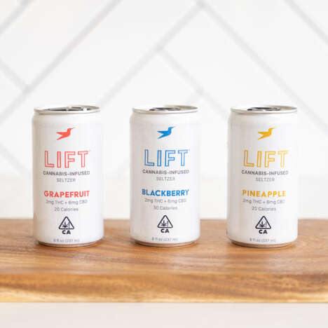 Microdosed Cannabis Seltzers – Lift Seltzer Has 2mg of THC and 6mg of CBD Per Can (TrendHunter.com)