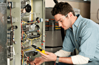 furnace heating repair technician