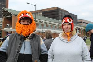 It was pretty cold out there— Gritty can be both functional and fashionable.