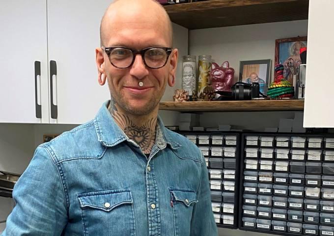 Philadelphia piercing artist John Bridges