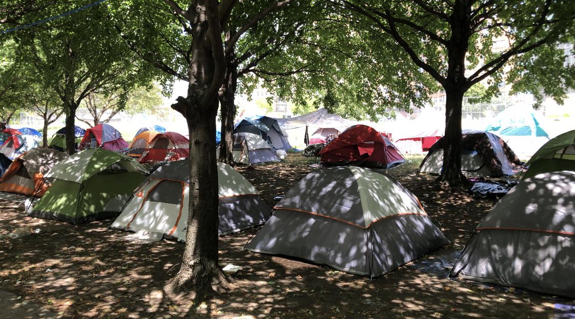 Encampment tents