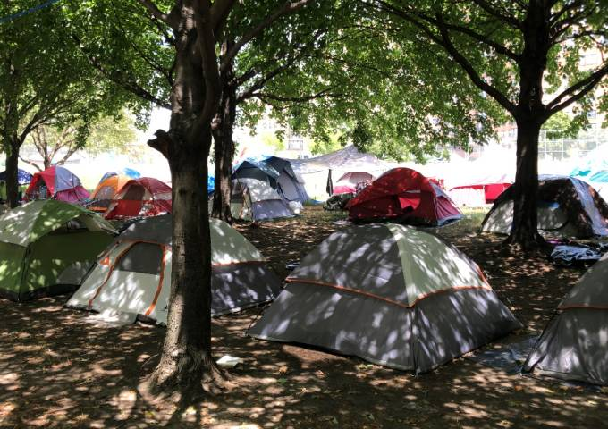 Encampment tents