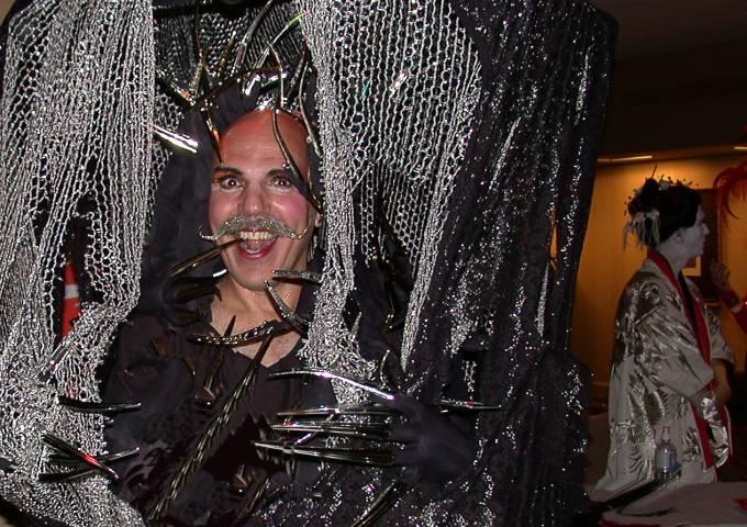 Halloween reveler Henri David