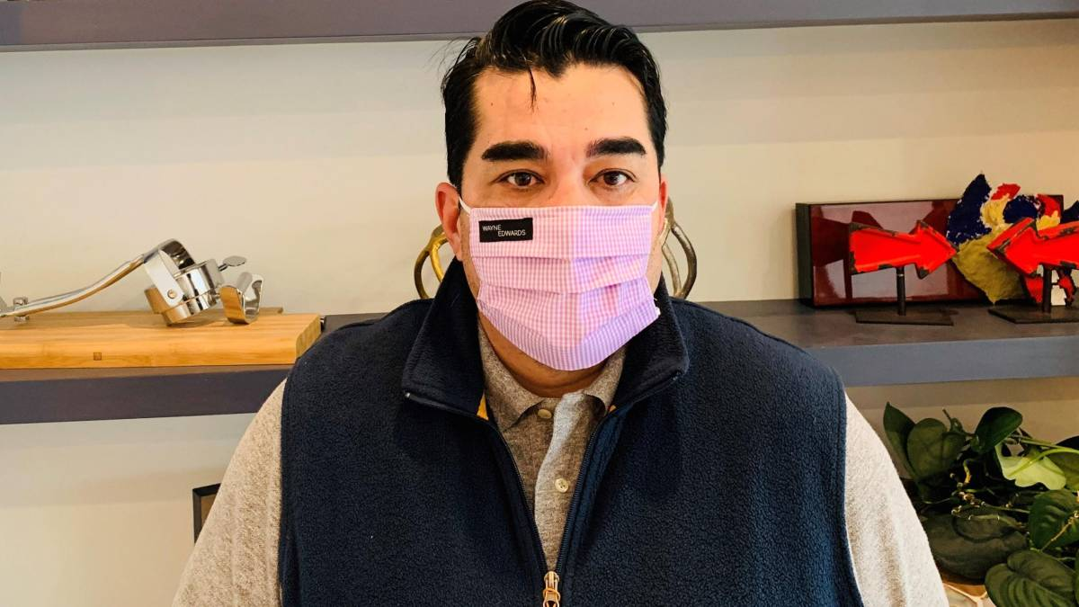 Jose Garces in a mask