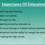 Importance of ideducation in life