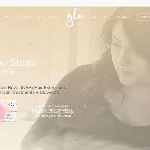 Glo Hair Studio Website