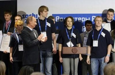 Владимир Путин на встрече с добровольцами. Фото: http://premier.gov.ru/