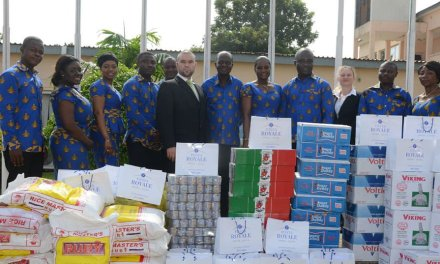 Fiesta Royale Hotel donates to survivors of the June 3rd flood disaster in Accra, Ghana.