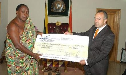 Newmont Ghana gives to Otumfuo's Charity Foundation