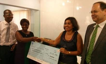 UN System donates cheque of GH¢50.000 to support 18 GJA media awards 2013