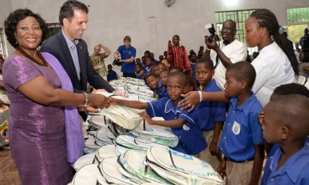 Yara launches 10,000 school bags project, Pantang Primary gets first donation