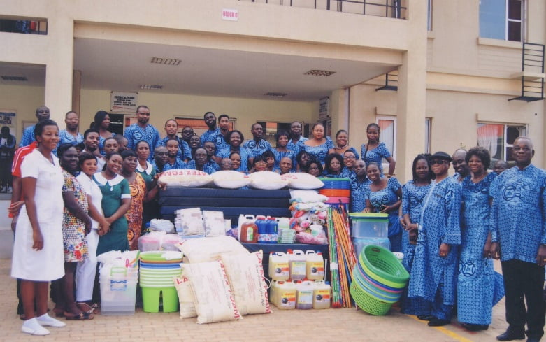 Marshallans of Teshie-Nungua give to LEKMA Hospital