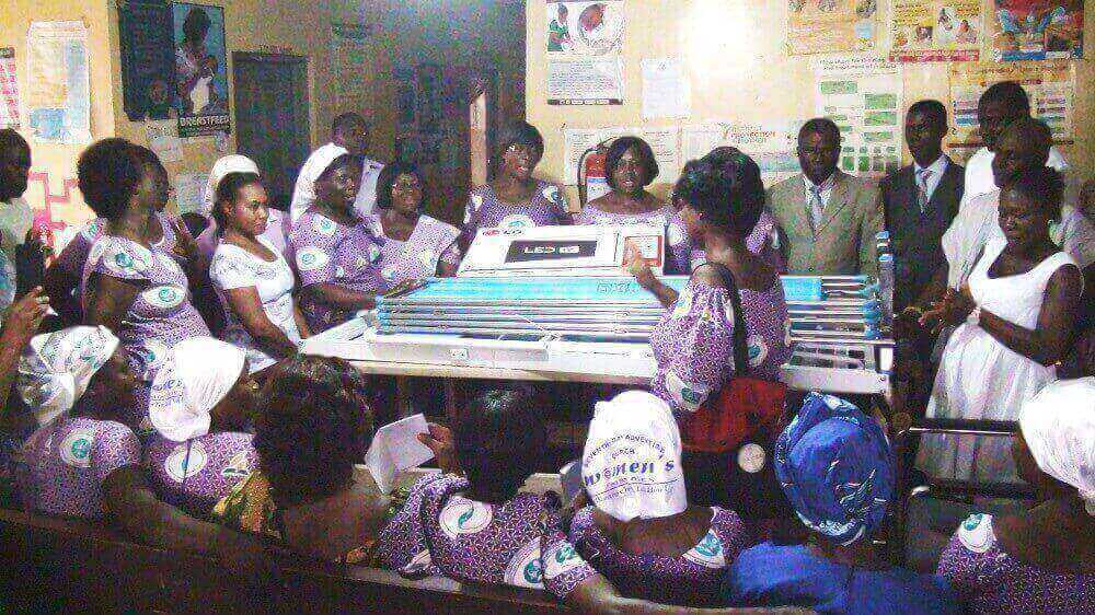 Women's Ministry SDA Accra-East donate to Adoagyiri Health Centre