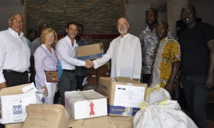 Batimat, APE Ceramica donate to In My Father's House charity