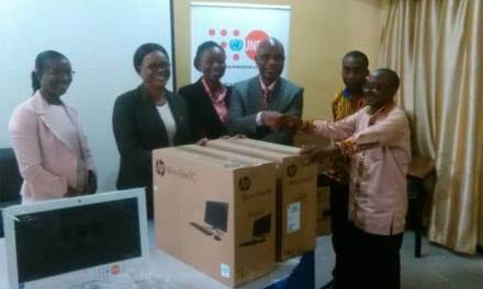 UNFPA gives domestic violence unit computers and supplies