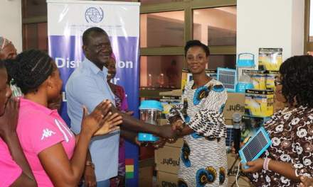 IOM distributes solar lanterns to head potters in Accra