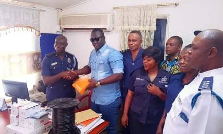 Avcontech donates security cameras to Kwabenya Police