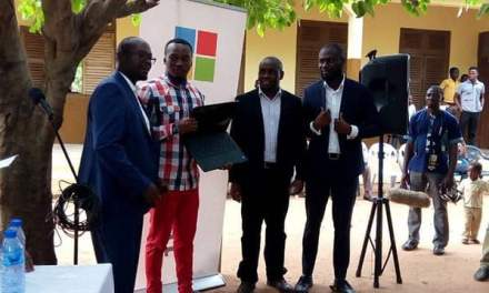 Microsoft gives computers, accessories to Bentensase JHS
