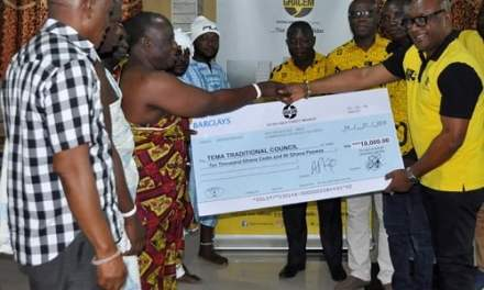 Ghacem gives to Tema Traditional Council Homowo