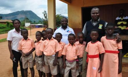 Bryan Acheampong gives school supplies to 14,000 students