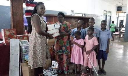 Maame Serwaah donates to Akropong School for the Blind