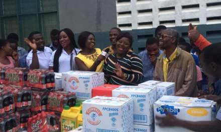 Nana Yaa Sarpong gives to Akropong School for the Blind