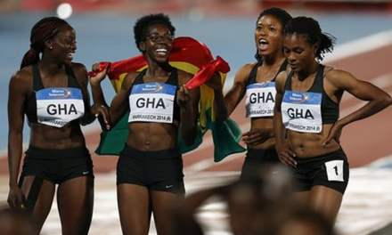 Just Because Fitness gives to Ghana's women relay team